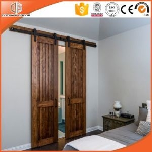 High Quality Timber Interior Sliding Door with Top Track Made in China pictures & photos