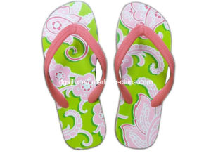 Colorful Printing Soft EVA Flip Flop pictures & photos