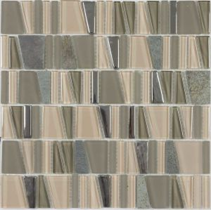 Crystal Vs Stone Mosaic Mixture Tile (LADDER-C53)