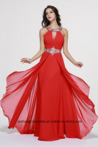 Women Beading Sleeveless Backless Evening Dress Prom Dress W004 pictures & photos