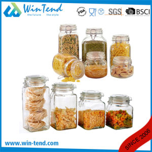 Wholesale Kitchen Storage Glass Jar Canister with Clip Lid pictures & photos