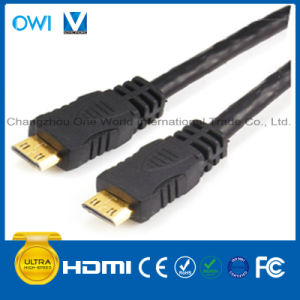 HDMI 19pin Plug to Mini HDMI Plug Cable for HDTV/4K/3D/Internet pictures & photos