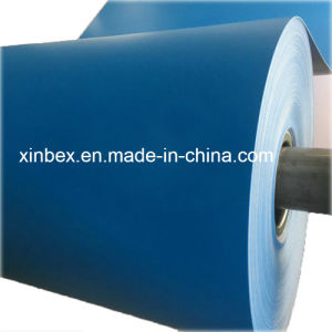 Food Grade PU Diamond Pattern Blue Conveyor Belt pictures & photos