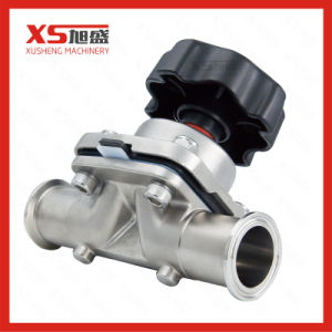 High Purity Manual Three Ways Diaphragm Valves with PTFE + EPDM pictures & photos