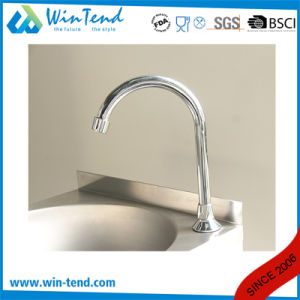 Stainless Steel Knee Operated Kitchen Wash Basin Sink with Faucet pictures & photos