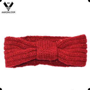 Lady′s Acrylic Mohair Knitted Sequins Headband pictures & photos