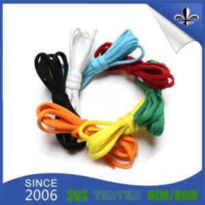 Factory Design Shoelace with Custom Printed Logo pictures & photos