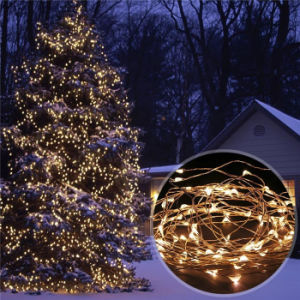Solar Pwer & Sensor LED Copper Wire String Light pictures & photos