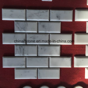 Wholesale White Marble Bianco Carrara Marble Mosaic (rectangle) pictures & photos