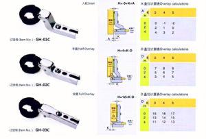Gh-01c 26mm Glass Door Hinge One Way (SLIDE ON) pictures & photos