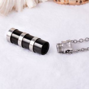 New Fashion Black Cylinder Urn Necklace Keepsake Cremation Jewellery Pendant pictures & photos
