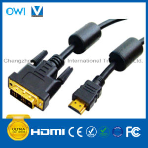 HDMI 19pin Plug-DVI Plug Digital Cable pictures & photos
