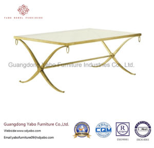 Modern Hotel Furniture with Lobby Long Glass Coffee Table (3453-1) pictures & photos