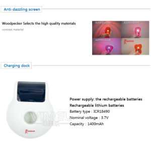 Woodpecker Dental LED-C LED Lamp Wireless Curing Light Battery Original pictures & photos