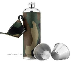 Stainless Steel Wine Bottle Hip Flask Sets (R-HF009) pictures & photos