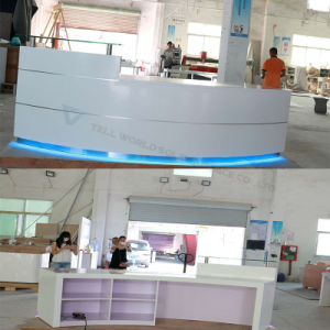 Commercial Modern LED White Shinning Front Desk Reception Desk pictures & photos