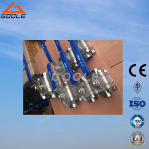 3 PC High Pressure Forged Steel Threaded Ball Valve (GQ11F) pictures & photos