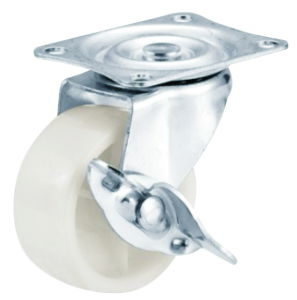 2 Inch White PP Caster Wheel with Side Brake pictures & photos