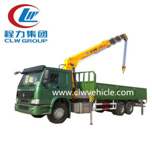 Famous China HOWO 6X4 Truck with Crane 6ton for Sale pictures & photos