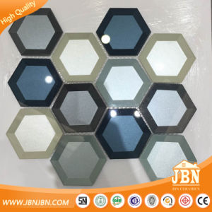 American Style Big Hexagon Edging Mirror Glass Mosaic (M855411) pictures & photos