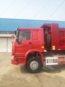 Sinotruk HOWO 6X4 Red Color Dump Truck for Ethiopia pictures & photos
