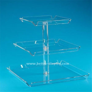 Clear Single Mini Crystal Cake Stand pictures & photos