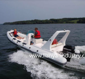 Liya 6.6m Fiberglass Fishing Boat Rigid Hull Inflatable Boat pictures & photos