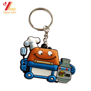 Company Logo Customized 2D Embossed Soft PVC Keychain pictures & photos