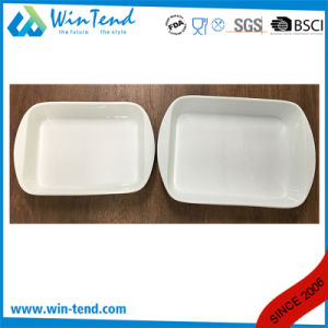 Wholesale White Porcelain Ovenproof Oven Lasagna Tray pictures & photos