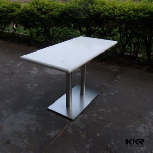 White Solid Surface Dining Table, Round Restaurant Dining Table pictures & photos