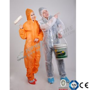 Nonwoven Disposable Yellow Coverall, PP Coverall, Safety Suits Coverall pictures & photos