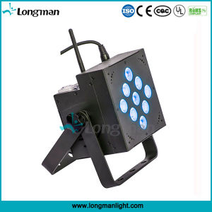 Indoor 9X10W RGBW DMX Battery Powered LED Disco PAR Lights pictures & photos