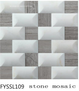 Building Material Calacatta White Marble Stone Mosaic Floor Tile (FYSSL114) pictures & photos