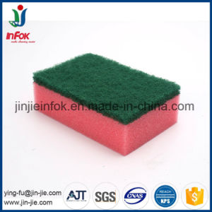 (YF-SP05) Colorful Kitchen Cleaning Heavy-Duty Sponge Scrubber pictures & photos