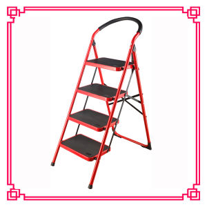 Steel Step Ladder with Round Tube/3 Step Ladder pictures & photos