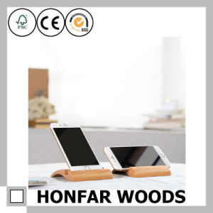 Cheaper Beech Wooden Phone Holder for Promotional Gift pictures & photos