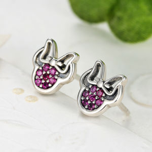 Elegant Shinney Silver Jewelry Minnie Stud Earring pictures & photos
