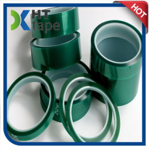 High Quality High Temperature Silicone Adhesive Green Pet Tape pictures & photos