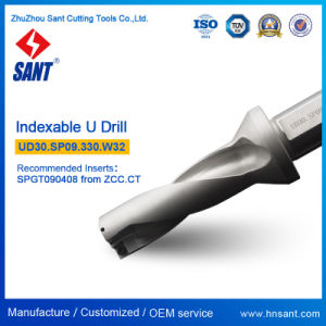 Nickel Coating High Precision U Drill Indexable Drilling Tools Ud30 with Carbide Insert Spgt Spmg pictures & photos