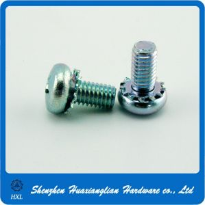Galvanized Steel Crossed Recessed Pan Head Sem Screw with Flower Washer pictures & photos