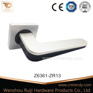 Wenzhou Zinc Door Hardware Interior Wooden Door Lever Handle on Rose pictures & photos
