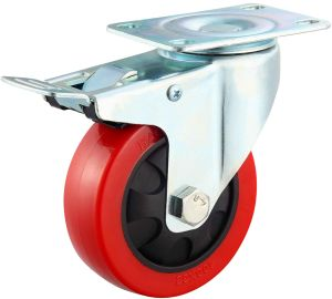 3/4/5 Inch Red PU Swivel Caster Wheel pictures & photos