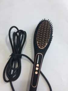 Private Label Straightener Iron Digital Fast Hair Straightener Brush pictures & photos
