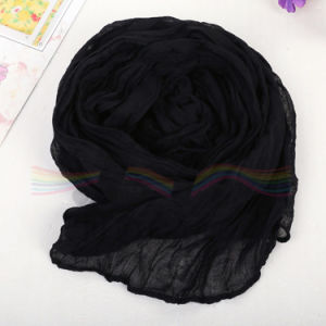 Soft Polyester Viscose Hijab Scarf Based on 80s*80s Voile pictures & photos