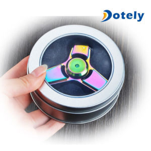 Anti-Stress Toy Colorful Triangle Fidget Metal Spinner pictures & photos