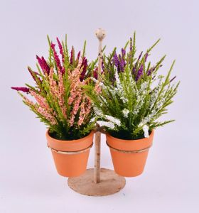 Colorful Pine Needle Foam Flower with Pots