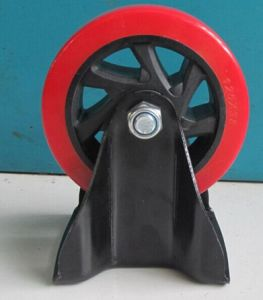 3/4/5 Inch Red PVC Castor Wheel Industrial Caster with Brake pictures & photos