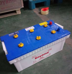 12V 200ah Heavy Duty Dry Charge Truck Battery N200 pictures & photos