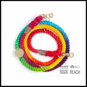 Colorful Eco-Friendly Cotton Rope Dog Leash Adjustable Length pictures & photos
