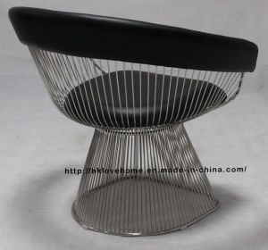 Modern Replica Metal Leisure Restaurant Cushion Outdoor Wire Chair pictures & photos